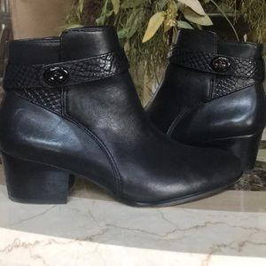 Coach Leather Patricia Ankle Boots
